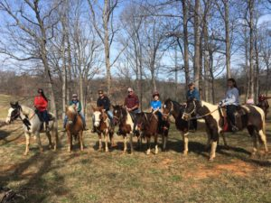 Family Horseback Riding at Spring Valley Farm