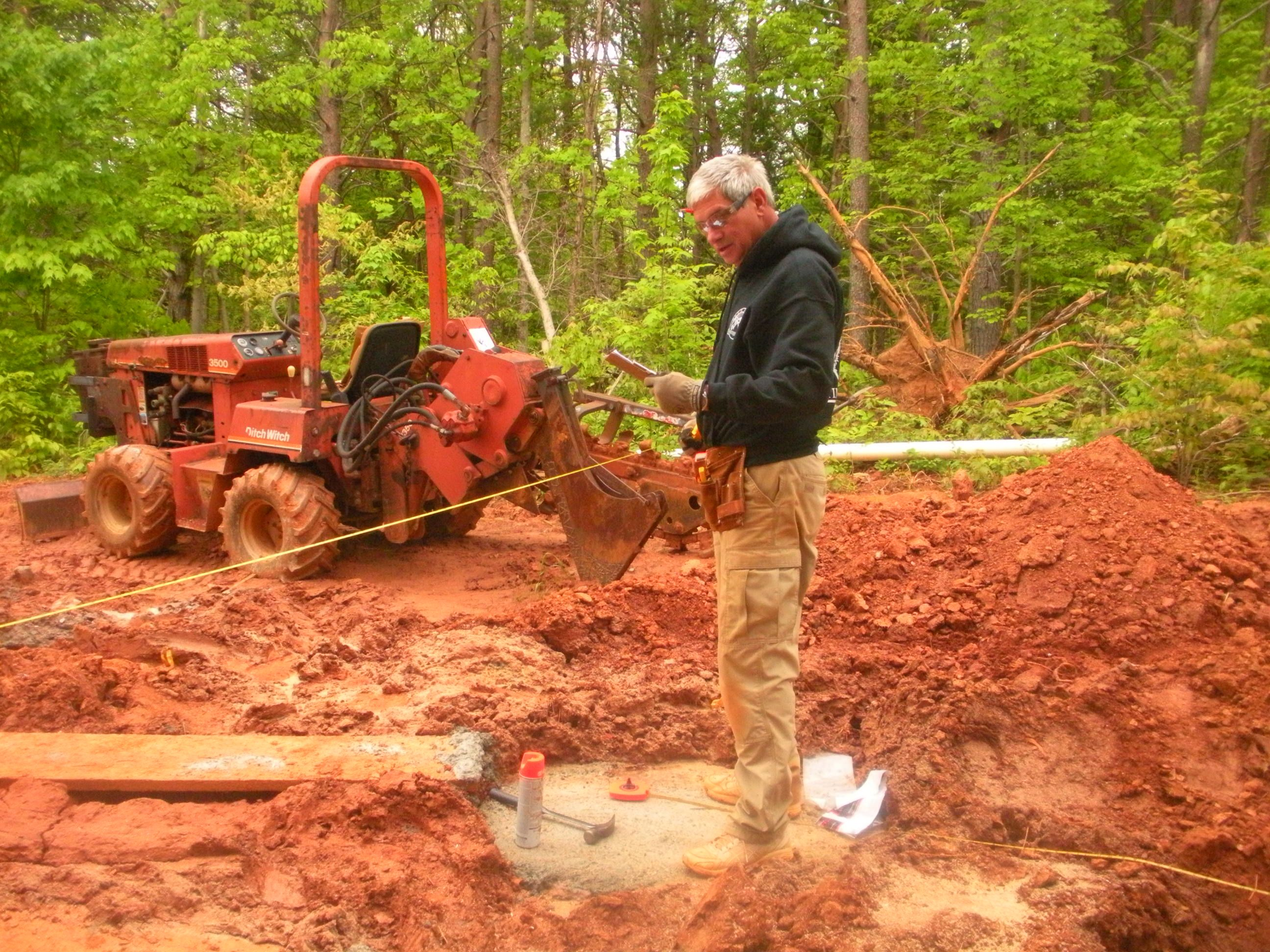 Jack measuring footers