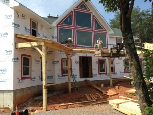 Front porches beginning to take shape