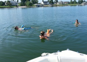 Noodling in Smith Mountain Lake with Carolyn & Bill