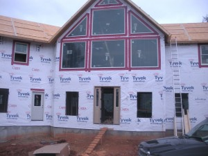 Then the fixed windows and tyvek.