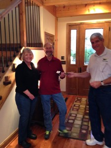Jack welcomes our first guests to Bedford Landings on opening day 12-17-2013