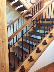 Black walnut steps