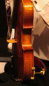 Karen's artistic photo of a viola belonging to one of our guests.