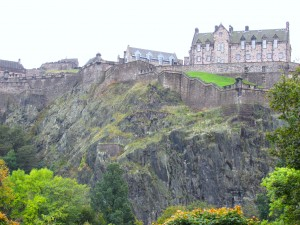 Can you imagine that this castle didn't get many invasions.  The Edinburgh Castle was built on an old volcano site.
