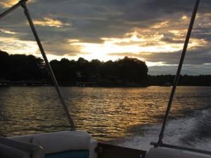 Sunset at Smith Mountain Lake