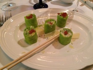 This was my Caesar Salad.  Nice presentation!