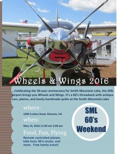 Fly-in poster for Wings & Wheels event