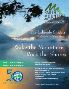 Poster for Lakeside Singers 2016