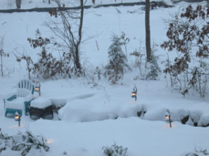 Still coming down on Marthy's Creek!