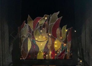stained glass fire