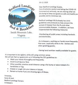 Bedford Landings COVID Memo