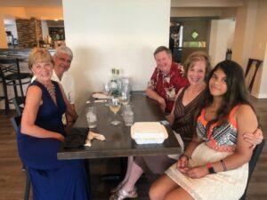 Group at dinner